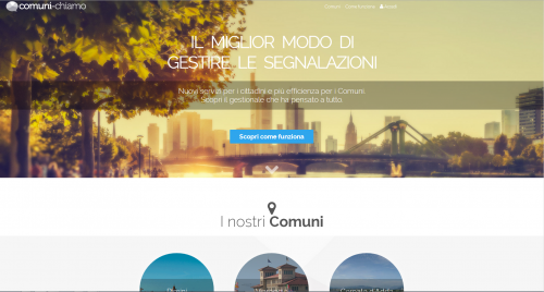 la home page web del servizio comuni-chiamo (http://www.comuni-chiamo.com)