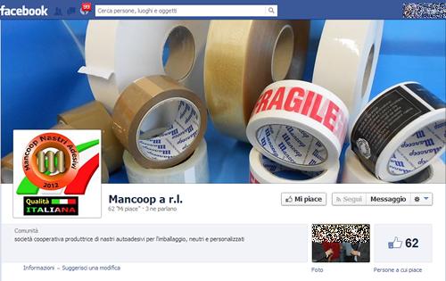 La pagina Facebook della Mancoop di Santi C0sma e Damiano, in provincia di Latina, già Evotape Packaging, gestita oggi dai suoi lavoratori grazie all'intervento del sistema cooperativo italiano, arrivato dopo il fallimento di due multinazionali nell'opera di salvataggio