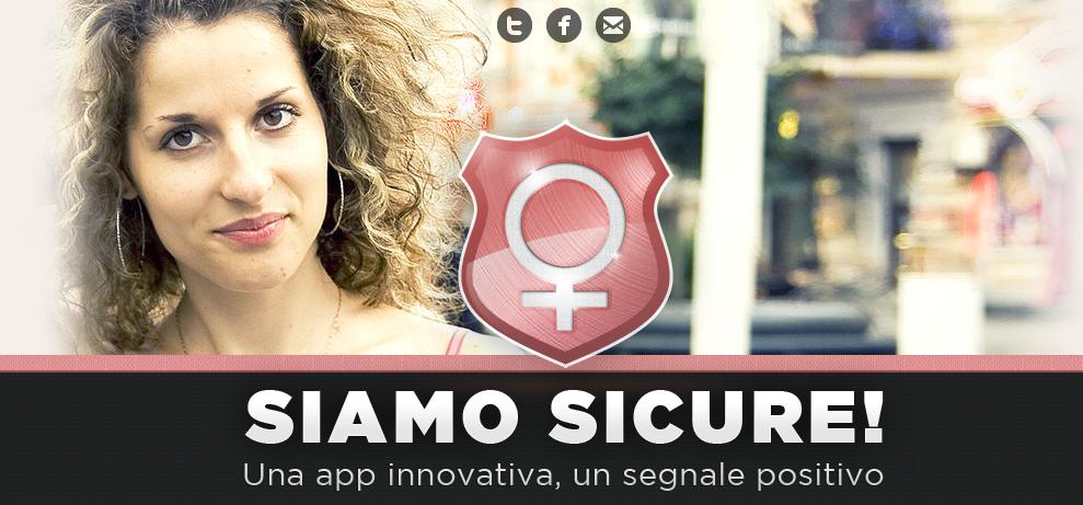 """La home page dell'app """"Siamo Sicure!"""""""
