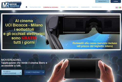 La home page dell'app movie reading