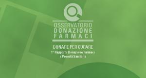 La copertina del Primo Rapporto sulla donazione dei farmaci a cura dell'osservatorio della Fondazione Banco Farmaceutico