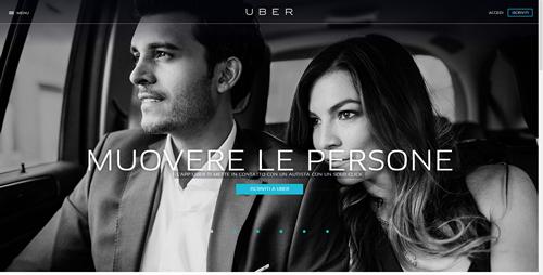 la Home dell'app Uber