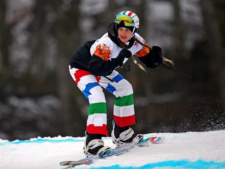 La snowboarder italiana Veronica Yoko Plebani, decima nella disciplina paralimpica  (fonte http://www.sochi2014.com)
