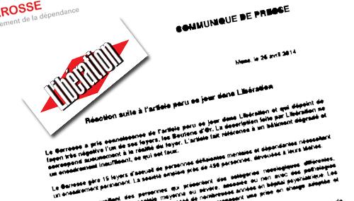 """Il comunicato stampa con cui la direzione della società che dirige il foyer """"incriminato"""" risponde alle accuse di liberation"""