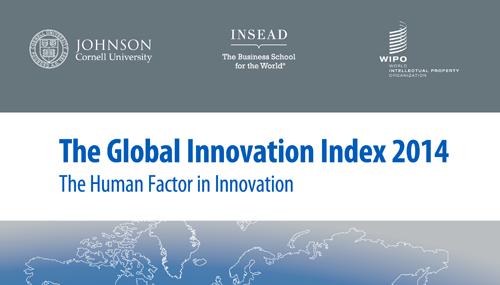 Particolare della copertina dell'edizione 2014 del Global Innovation Index