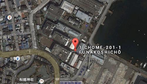 Google Map: una vista dall'alto dell'area della città giapponese di Kanagawa, nella prefettura di Yokosuka, dove sorgeranno i duemila metri quadri della Toshiba Clean Room Farm Yokosuka