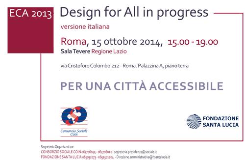 L'Eca riapre ildibattito sulla progettazione per tutti in Italia