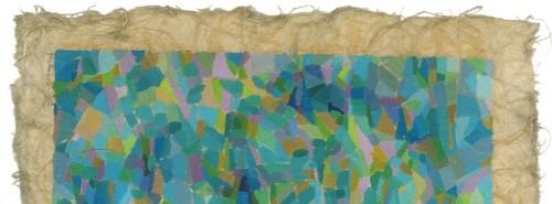 Un frammento di una delle opere di Stefania Palombi esposte al Parco dell'Innovazione nell'ambito della sua personale che si inaugura sabato 25