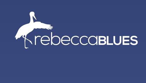 Il logo di Rebecca Blues. l'app ed il social network per la prevenzione della depressione post partum