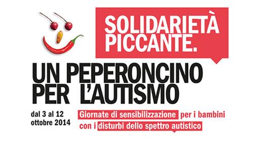 Solidarietà Piccante è l'iniziativa lanciata dall'Associazione una breccia nel muro, in collaborazione con il Bambin Gesù e L'accademia Italiana del peperoncino e dil sotegno della Fondazione Vodafone Italia, per sostenere i Centri Terapeutici Facciamo Breccia rivolti ai bambini autistici