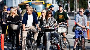 Traffico di biciclette a Copenhagen