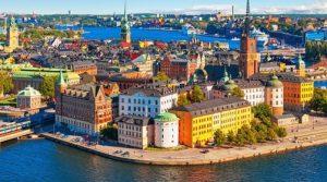 Una suggestiva immagine del centro antico di Stoccolma