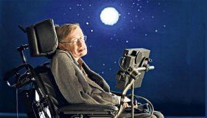 """Stephen Hawking """"parla"""" ad una conferenza utilizzando il suo computer"""