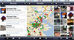 """Schermata dell' applicazione """"Citizen Connect""""."""