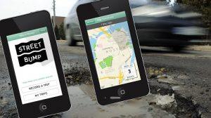 """L'app """"Street bump"""" rileva automaticamente le buche stradali grazie ad un accelerometro posizionato sullo Smartphone"""