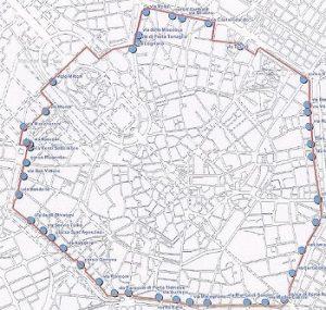L' area C racchiusa dalla Cerchia dei Bastioni