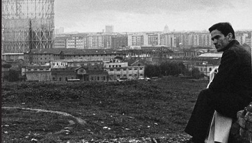 Pier Paolo Pasolini su Monte Testaccio a Roma