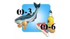 Una schematizzazione dei cibi che contengono più Omega3 ed Omega6