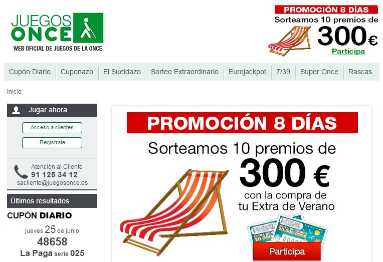 L'Once, l'equivalente iberico di Uici, oltre alla lotteria per la raccolta di fondi gestisce anche giochi on line