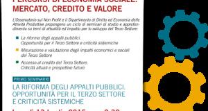 """Attività Produttive ha per tema """"La riforma degli appalti pubblici. Opportunità per il Terzo Settore e criticità sistemiche"""