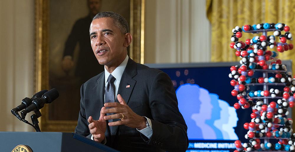 Il Presidente Usa Barack Obama a fine mandato ha lanciato con la Precision Medicine Initiative (PMI), dopo i successi raccolti con la riforma sanitaria, gli straordinari contrattualizzati ed i matrimoni gay, un forte impulso alla ricerca nell'ambito della medicina di precisione