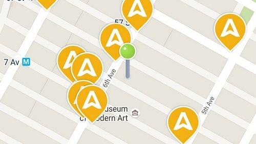 L'applicazione per smartphone Arro, che consente agli utenti di trovare in tempi rapidi un taxi