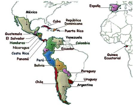 Tutti i paesi che hanno lo spagnolo come prima lingua