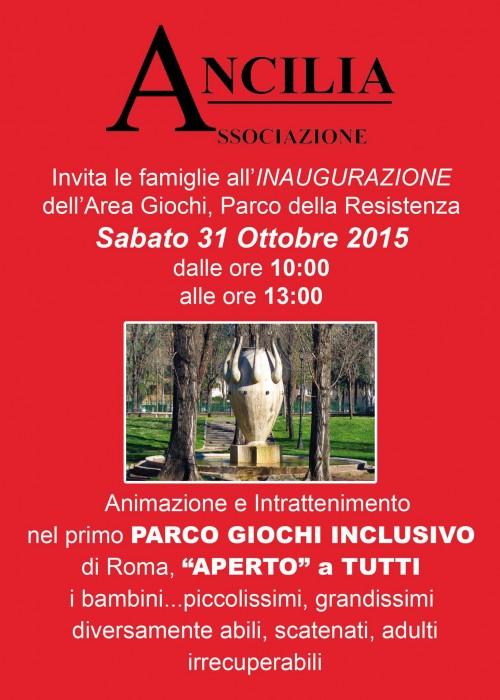 Inaugurazione del primo parco giochi per bambini con disabilità a Roma