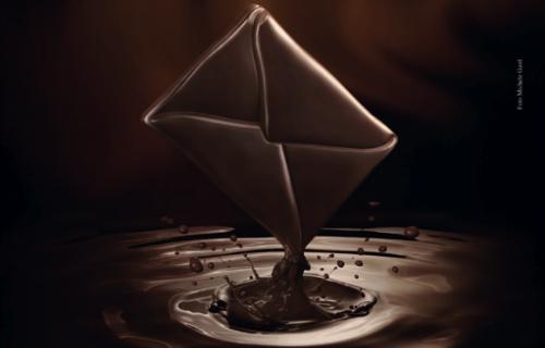 Messaggio di cioccolato