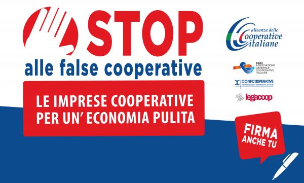 L'Alleanza delle Cooperative Italiane ha lanciato un araccolta di firme per una legge d'iniziativa popolare contro le false cooperative