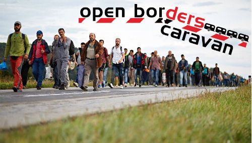 Open border caravan
