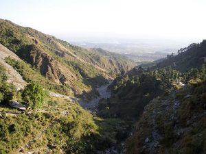 La valle della città di Dharamsala