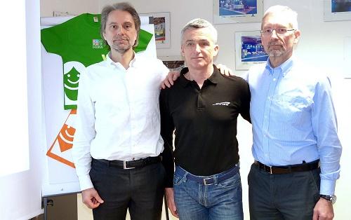 Paolo Ferraris, Arturo Giustina, Alessandro Ferraris, il team che affronterà l'arduo viaggio in bicicletta