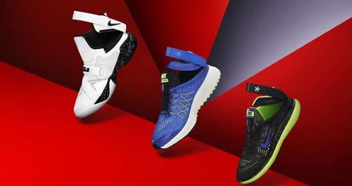 I tre nuovi modelli Nike FlyEase LeBron Soldier 9, Pegasus 32 e  Flex Run, seguono il lancio, lo scorso anno, del LeBron Soldier 8