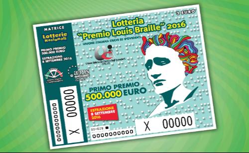 Lotteria Premio Braille 2016