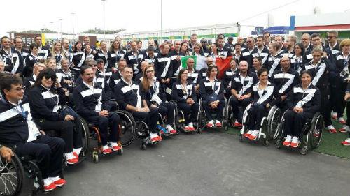 La squadra paralimpica