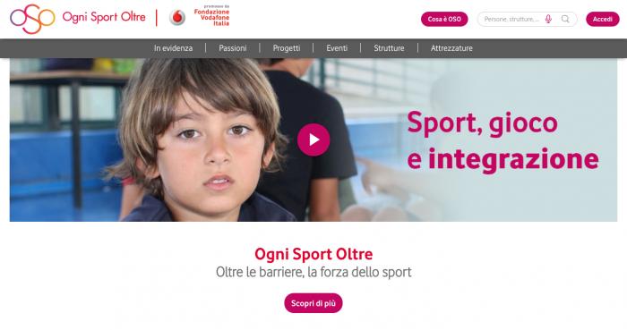 Al via la piattaforma Ogni Sport Oltre di Fondazione telecom