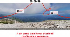 """La home Page del Web Doc """"Immersi nel Cratere"""" prodotto da Wired Italia e ActionAid e realizzato da Ivan Giordano e Manolo Luppichini"""