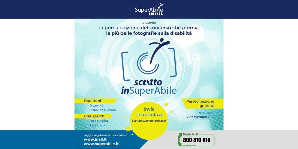 """Si chiude il prossimo 20 novembre """"scatto inSuperabile"""", il concorso fotografico di Superabile Inail per reportage e foto sulla disabilitòà"""
