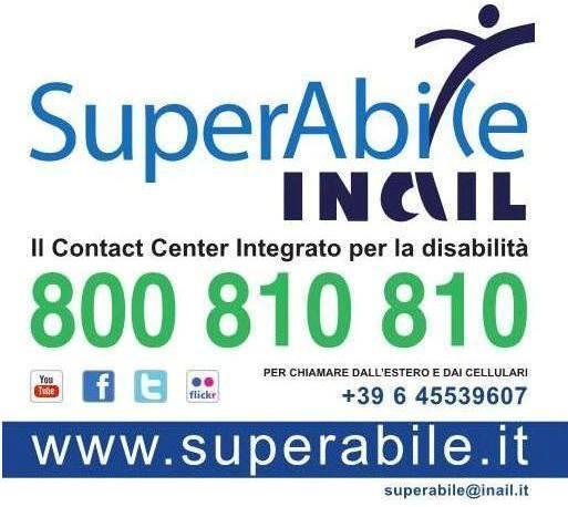 Supoerabie Inail, al Numero Verde 800.810.810 del Contact Center Integrato informazione e consulenza sulle tematiche legate alla disabilità