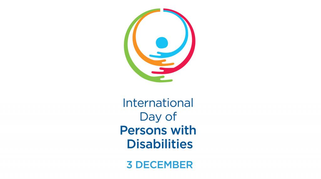 Il logo dell'Idpd, L'international Day of Persons with Disability istituita dall'Onu per il 3 dicembre