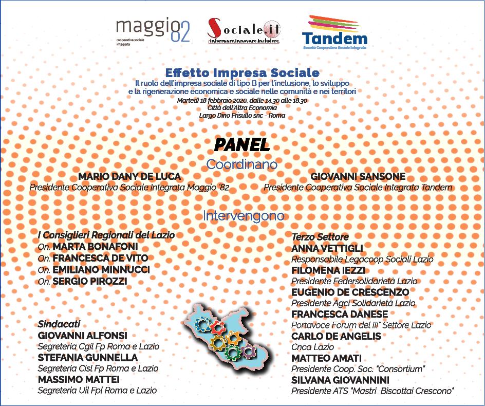 Il panel del Convegno del 18 febbraio 2020